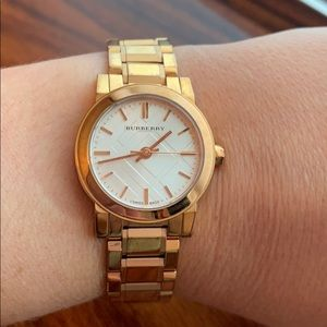 Authentic Burberry Women's Rose Gold-Tone Watch